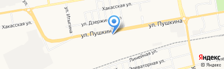 Русский Свет на карте Абакана