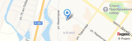 Жилфонд на карте Абакана