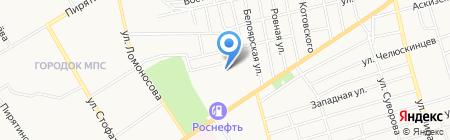 Фаско на карте Абакана