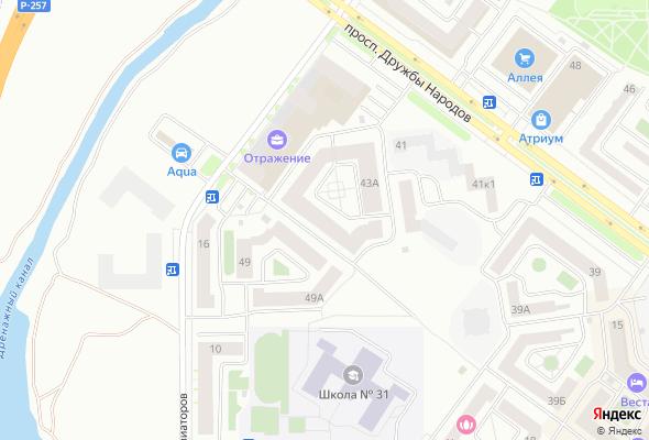 купить квартиру в ЖК по пр. Дружбы Народов, 43А