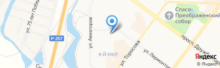 НиКс на карте Абакана