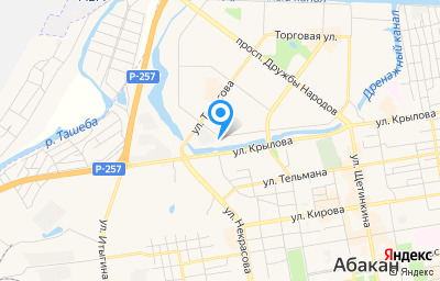Местоположение на карте пункта техосмотра по адресу г Абакан, гск микрорайон 6-й, д 507Н