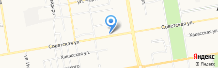 Смирновский хлеб на карте Абакана