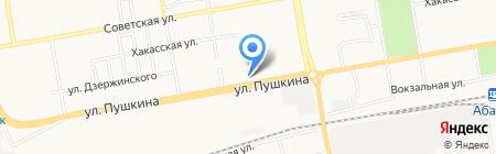 Власта-Росинка на карте Абакана