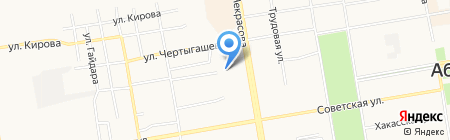Старт Сибири на карте Абакана