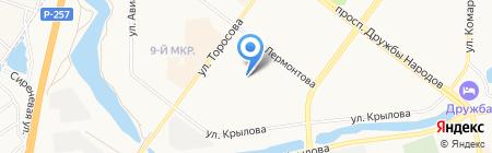 Магазин автозапчастей для ВАЗ на карте Абакана