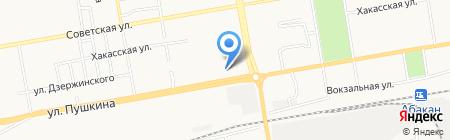 Военный комиссариат Республики Хакасия на карте Абакана