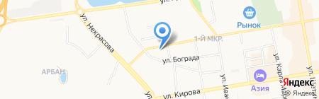 ОЛИМП ПЛЮС на карте Абакана