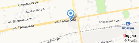 СТО на ул. Пушкина на карте Абакана