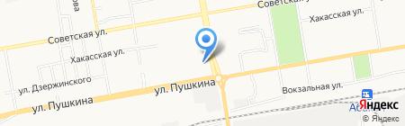 Продуктовый магазин на ул. Некрасова на карте Абакана