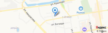ВСК на карте Абакана