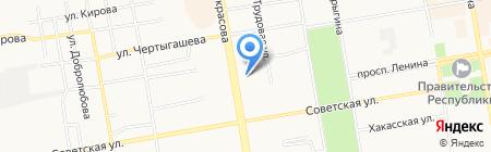 Тамара на карте Абакана