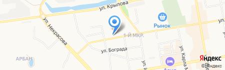 Пивной пункт №1 на карте Абакана