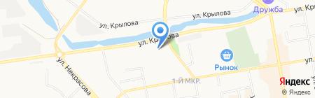 Почтовое отделение №1 на карте Абакана