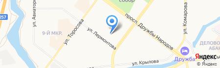 ЖЭУ-3 на карте Абакана