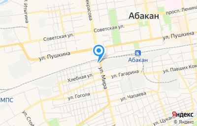 Местоположение на карте пункта техосмотра по адресу г Абакан, ул Элеваторная, д 2