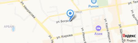Тонировка у Ильи на карте Абакана