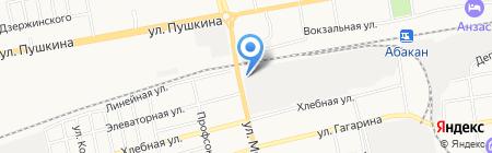 Электросеть на карте Абакана
