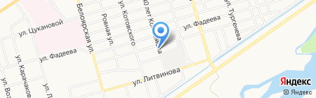 Магазин продуктов на Совхозной на карте Абакана