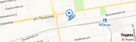 Гибрид-сервис на карте Абакана