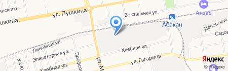 Торгово-сервисная компания на карте Абакана