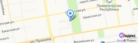 Магазин продуктов на ул. Ленинского Комсомола на карте Абакана