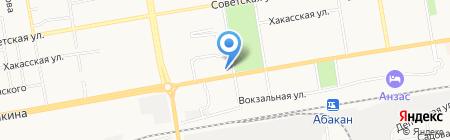 Столплит на карте Абакана