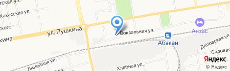 Почтовое отделение №6 на карте Абакана