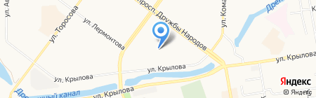 Ёлочка на карте Абакана