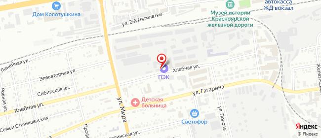 Карта расположения пункта доставки Абакан в городе Абакан