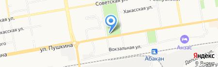 Джинсовый центр на карте Абакана