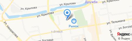 Ермак-Абакан на карте Абакана