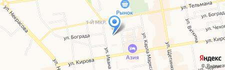 МИЛИНА на карте Абакана