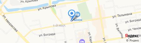 АЗК Роснефть на карте Абакана