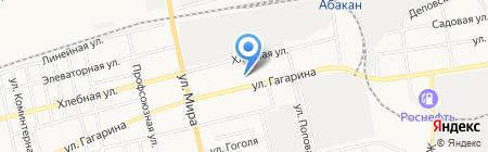 Автодруг на карте Абакана