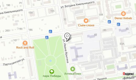 Салон-магазин товаров для праздника на ул. Ивана Ярыгина. Схема проезда в Абакане