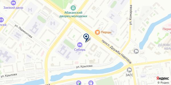 Грация на карте Абакане