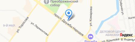 Аян на карте Абакана