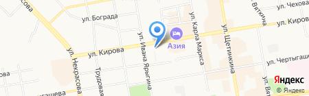 Банкомат КБ Кедр на карте Абакана