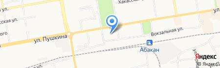 АКБ РОСБАНК на карте Абакана