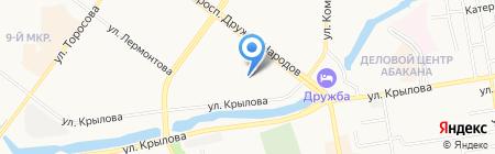 Сибирский аудит на карте Абакана