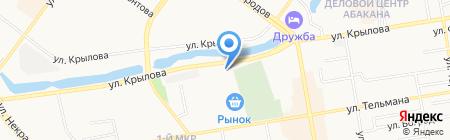 АЗС Малина на карте Абакана