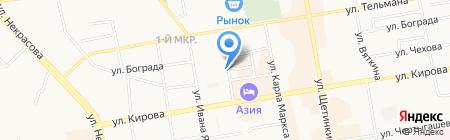 Магазин продуктов на Колхозной на карте Абакана