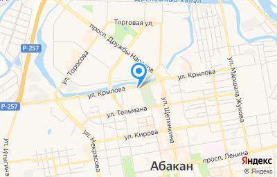 Местоположение на карте пункта техосмотра по адресу г Абакан, гск район 1-й квартал 38-й а, ряды Ряд 3-й, д 7