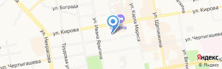 Василек на карте Абакана