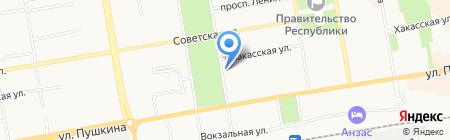 Сибирь-Лизинг на карте Абакана