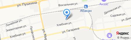 Центр авторазбора на Хлебной на карте Абакана