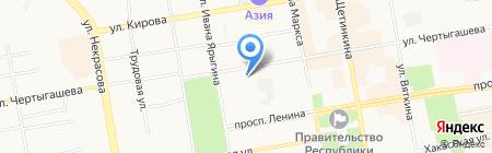 Санаторный на карте Абакана