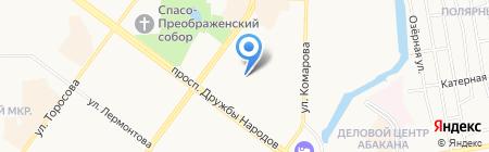 Конли на карте Абакана