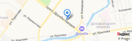 Киоск по продаже хлебобулочных изделий на карте Абакана